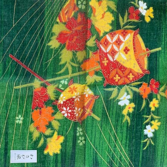 Vintage Takeo Kikuchi Handkerchief Pocket Square Neckerchief Face Mask Floral Babushka Bandana Accessories Head Band Hair Tie