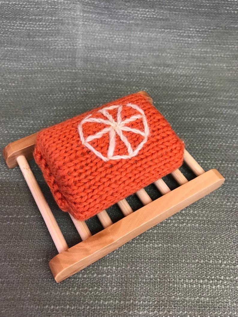 Organic Hand Knitted Felting Orange Soap Gift Vegetarian