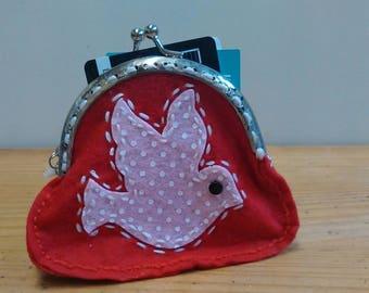 Handmade Bird Coin Purse