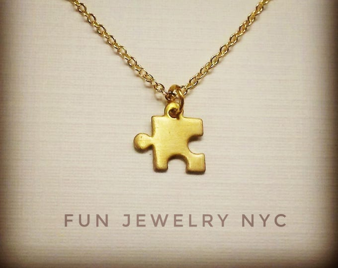 CUTE PUZZLE Piece Necklace!