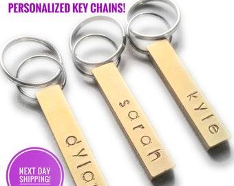 PERSONALIZED KEYCHAIN! Engraved Keychain for Women Custom Key chain Key ring Mens Gifts Personalized Keychain for Boyfriend Teacher Gift