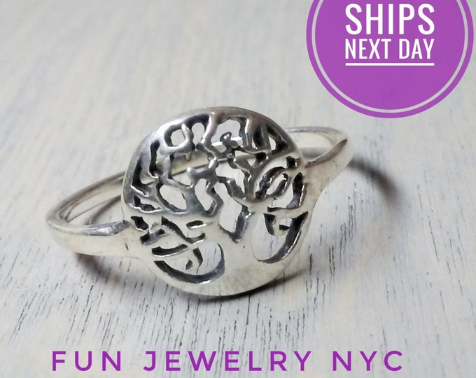 Featured listing image: TREE of LIFE RING! Sterling Silver