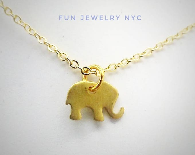 TINY ELEPHANT Necklace!