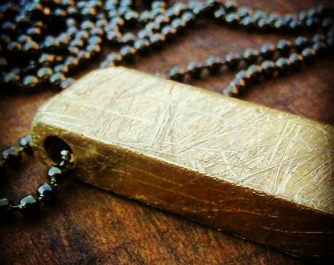 RUSTIC BRASS Necklace!