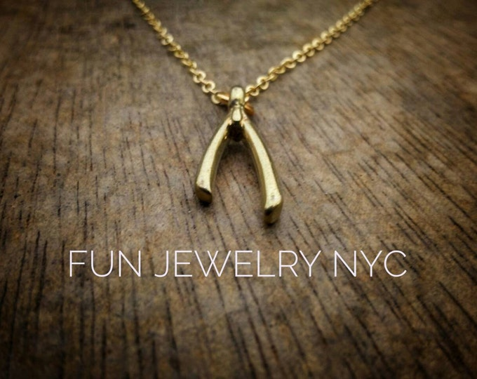 CUTE WISHBONE Necklace!