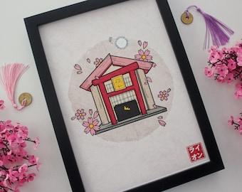 Yato Shrine & Yuki - Noragami (A4)