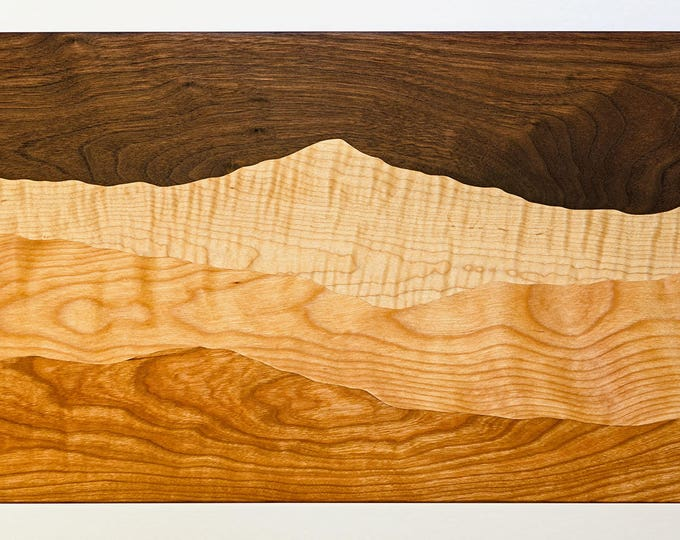 Featured listing image: Storm Over the Mountain cutting board