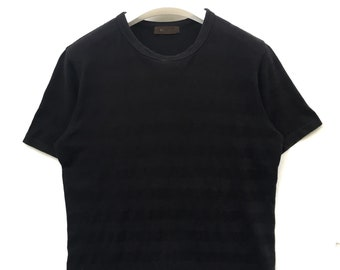 587f91d006a6 Japanese designer Y s For Men YOHJI YAMAMOTO dark black stripe shirt japan  made size 3