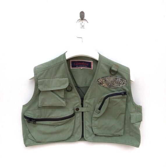 Vtg rare Gamakatsu japan fishing gear vest jacket