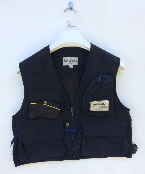 Vtg Shimano fishing gear vest fishing jacket M siz