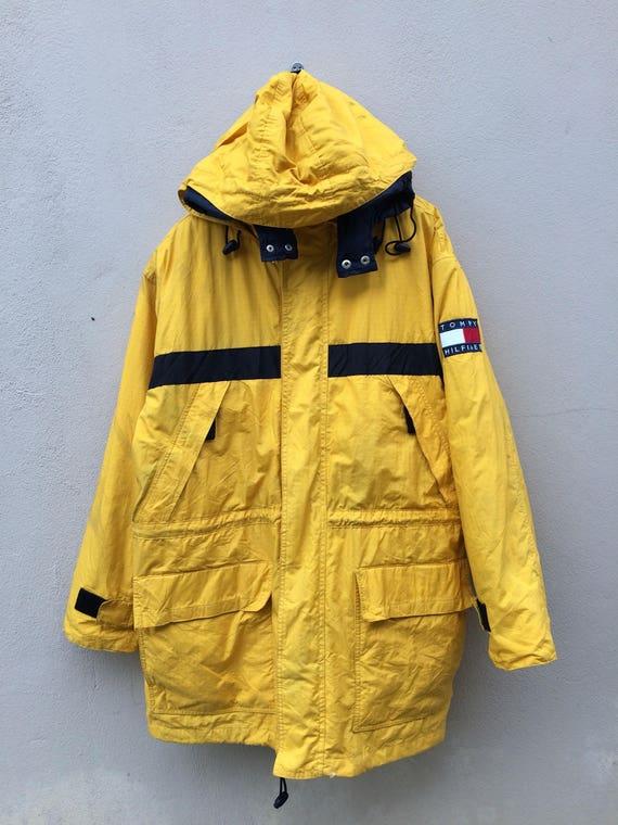 Vtg Rare 90s Tommy Hilfiger Puffer Jacket Sailing Etsy