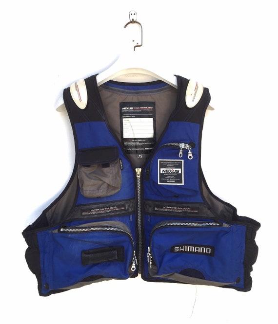 Vtg Shimano Nexus fishing gear floating vest fishi