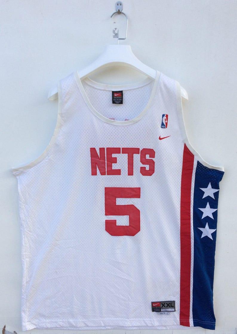 new style e7692 a0561 Vtg rare Jason Kidd New Jersey Nets swingman NBA Nike jersey XXL size