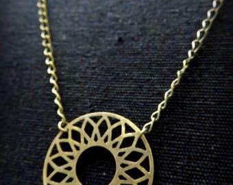 Necklace little brass Sun
