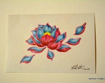 Floating Petals (Art Print) 4x6in.