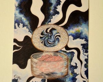 Hatbox (Art Print) 4x6in.