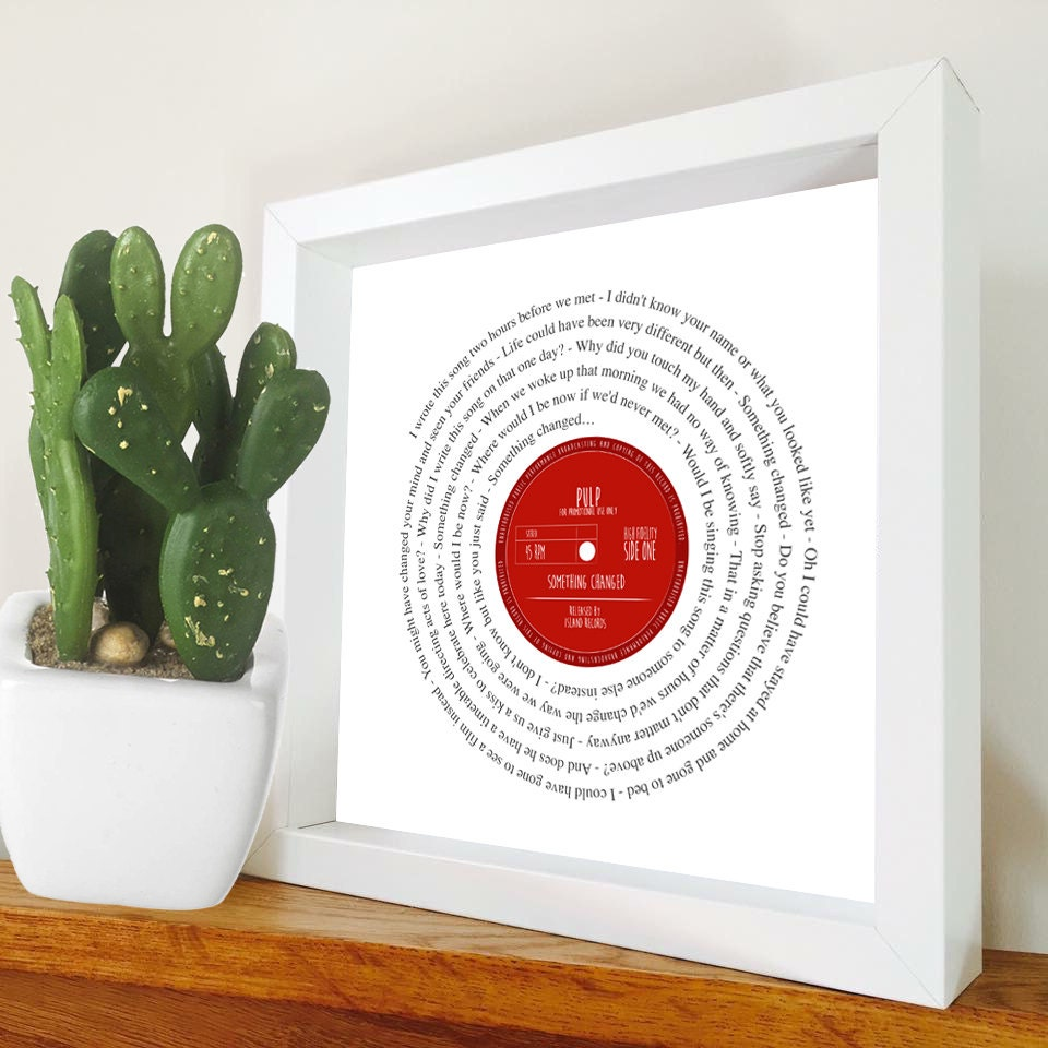 Zellstoff etwas verändert Songtext Vinyl-Schallplatte aussehen | Etsy