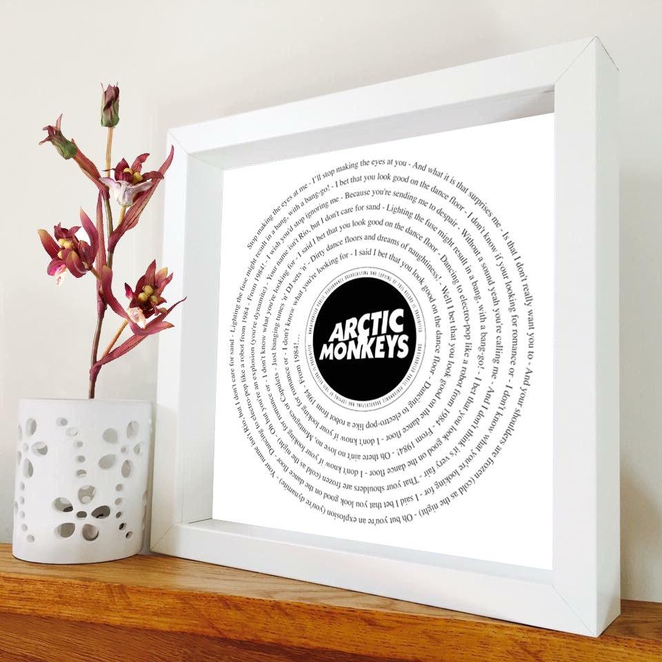 Arctic Monkeys gerahmt Song Lyrics Vinyl-Schallplatte | Etsy
