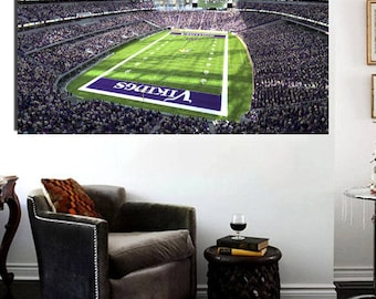 Minnesota Vikings Stadium Canvas Print 36 x 24 Panoramic Effect US Bank Stadium