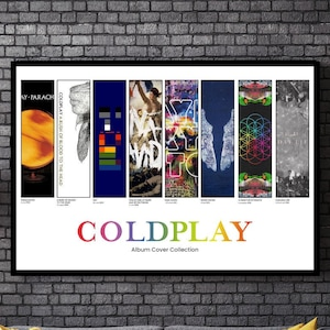 Coldplay all member signed Yellow song lyric gift fan Poster no frame