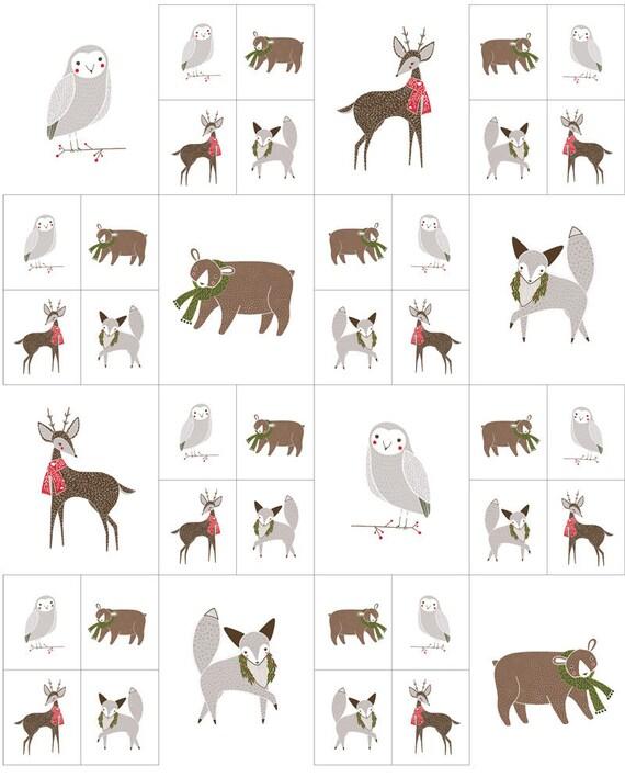 Gingiber Merriment 10 x10 inch Embroidery Sampler  Deer Moda