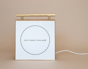 Handmade Wood Lightbox with White Front - Customise with your own decal!