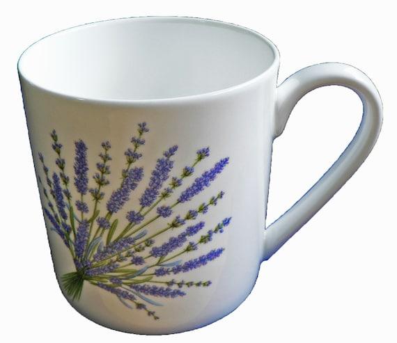 Violet 1 pint bone china mug Violets all around mug