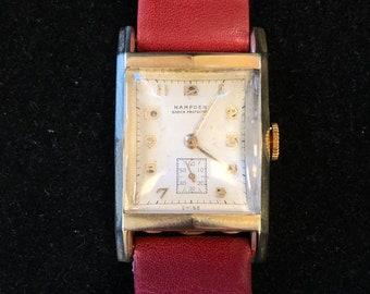 Hampden 14kt Gold Vintage Wrist Watch c.1940's 17 Jewels Swiss