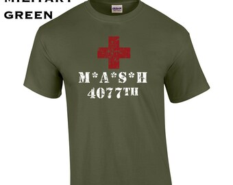 6d787ecf Mash 4077th Division funny tv show costume army military veteran party  college vintage retro - Mens T-shirt - apparel clothing - 588