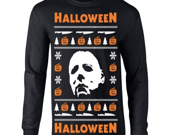 popular items for horror christmas sweater