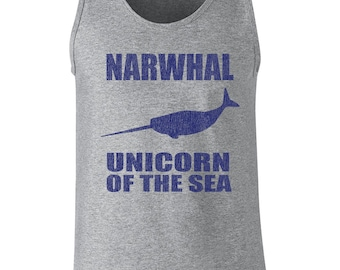 a873ba31fff30 Narwhal Unicorn of the sea funny endangered species conservation hippy  hipster ocean whale retro - Tank Top - apparel clothing - 381