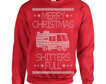 8e41a174923 Shitters Full Christmas funny movie griswolds ugly Christmas vacation 90s  sweater costume party - Crew Sweatshirt - apparel clothing - 361