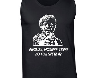 4b72d3882 English Motherf*cker Do you speak it funny 90s movie rude vulgar quote  college party vintage retro - Tank Top - clothing apparel - 624