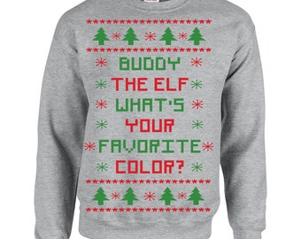 Buddy The Elf Sweater Etsy