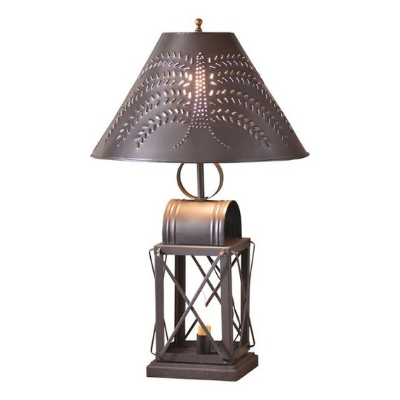Keeping Room Table Lamp , Punched Tin Shade