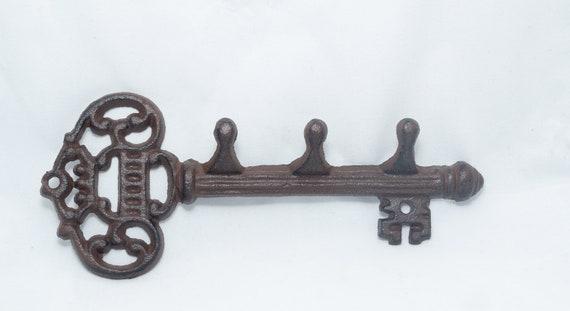 Cast Iron Large Key with 3 Hooks, Hook For Keys