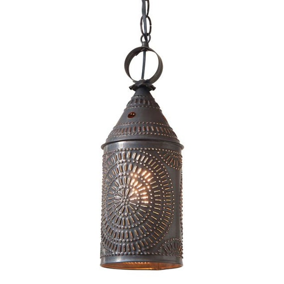 15-Inch Electrified Hanging Lantern in Kettle Black