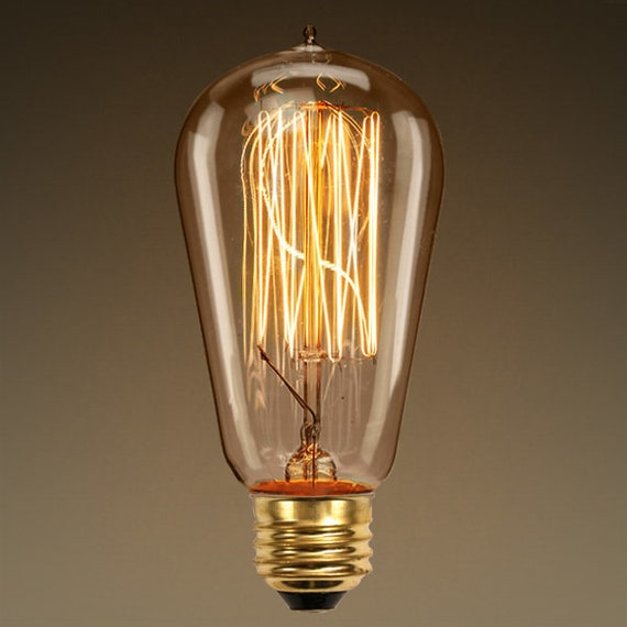 60 Watt - Edison Bulb - 5.5 in. Length Vintage Light Bulb - Amber Tinted - Squirrel Cage