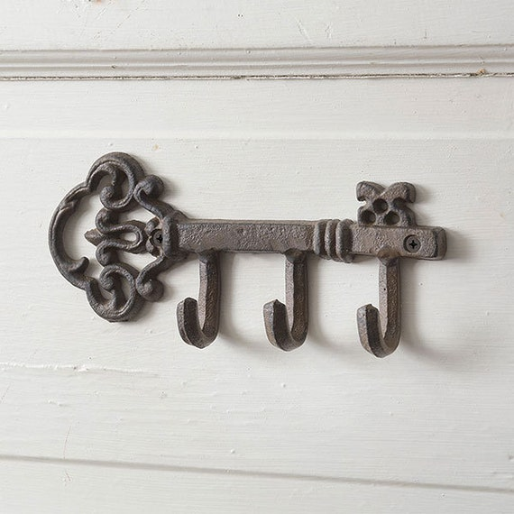 Cast Iron Key Hook, Farmhouse style, Retro