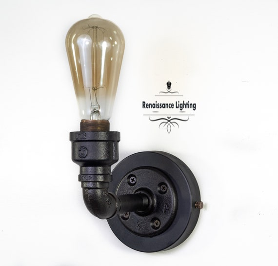 Iron Vintage industrial sconce, Steampunk Lighting, Retro Lighting. Industrial lighting