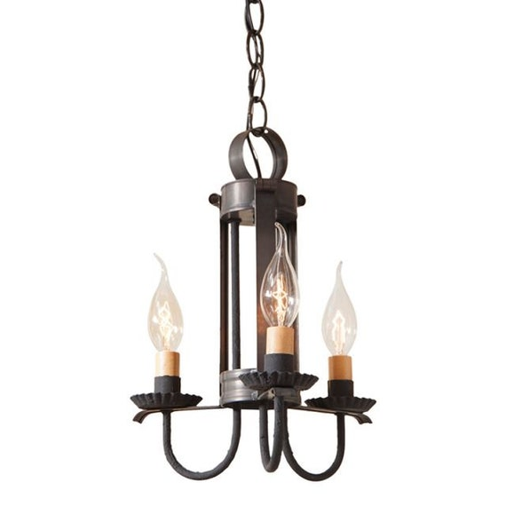 Small Amherst Hanging Light in Kettle Black, Farmhouse lighting