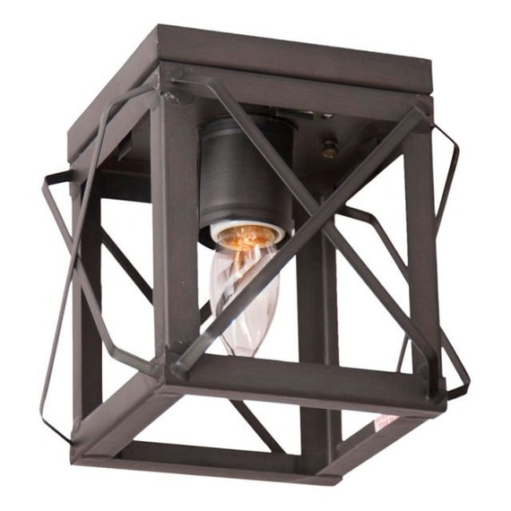Single Flush Mount Ceiling Light , choice of Finish , Farmhouse Lighting