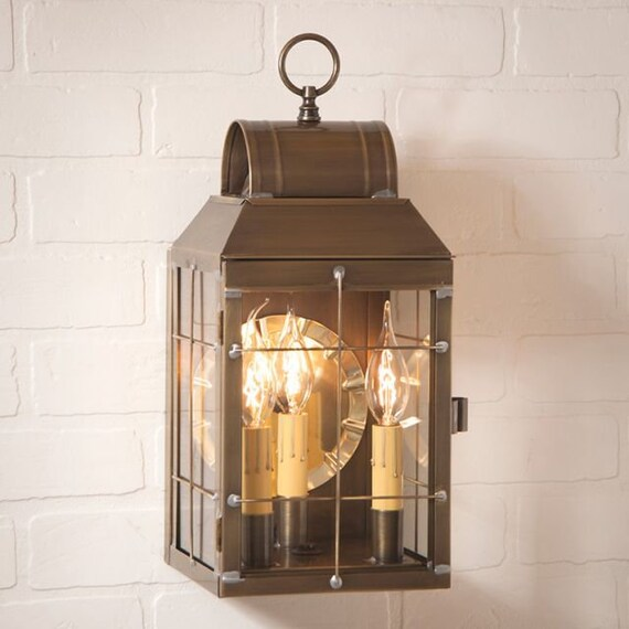 Martha's Wall Outdoor Light in Solid  Weathered Brass - 3 Light