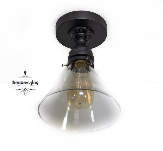 Industrial  flush mount Lighting   fixture, Steampunk Lighting,Industrial Lighting, Retro Lighting