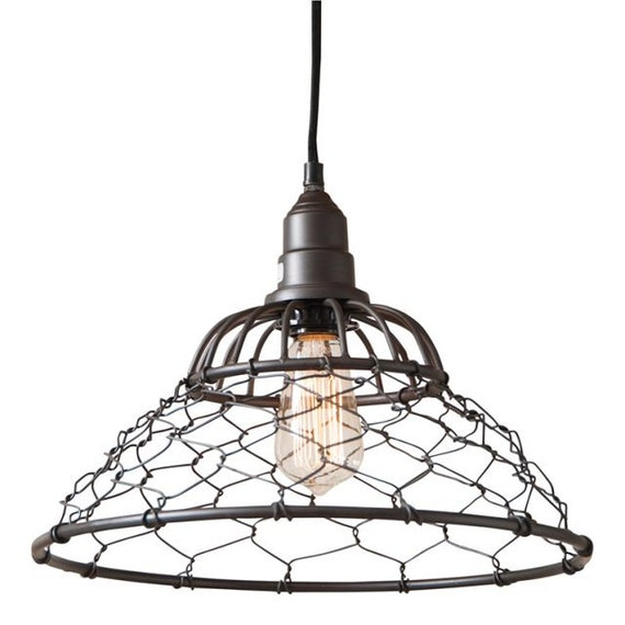 Loft Cage Pendant Light in Smokey Black