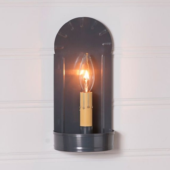 Fireplace Wall Sconce Light in Country Tin , Farmhouse lighting,vintage lighting