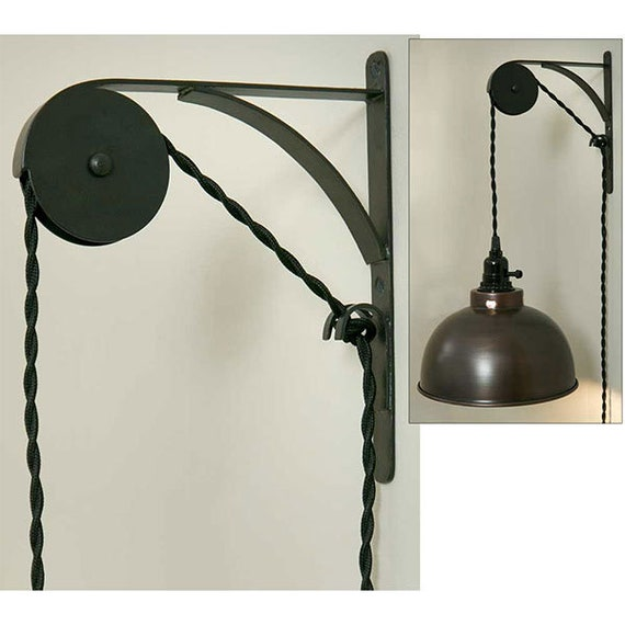 Wall Mount Pulley - Antique Black