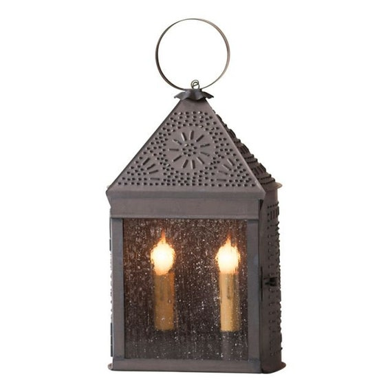Harbor Lantern with Chisel in Kettle Black, Plug in ,Table Lamp