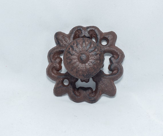 Fancy Antique Brown/Black Round Drawer Knob