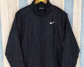 NIKE GOLF coupe-vent veste Large noir Vintage des années 90 Nike Swoosh  Sportswear Windrunner Nike Air Track Top Streetwear fermeture éclair veste  taille L 14614a5b1a09